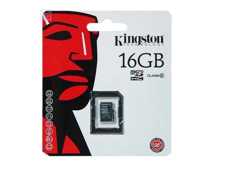 Карта памяти Kingston SDC10/16GBSP