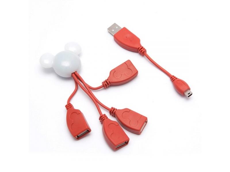 USB хаб Deluxe DUH4003RD