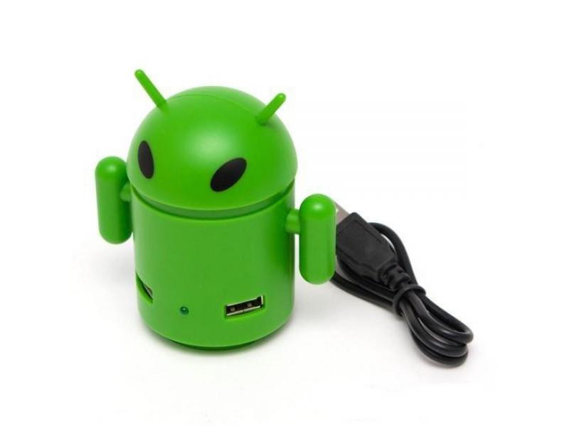 USB хаб Deluxe DUH4002GR Green