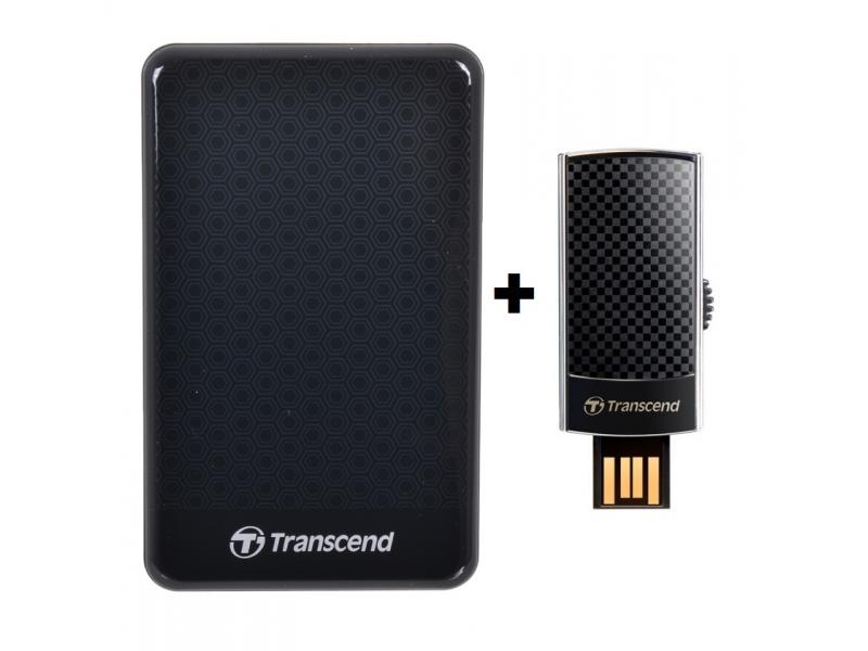 Внешний жесткий диск Transcend TS500GSJ25A2K + Transcend TS4GJF560