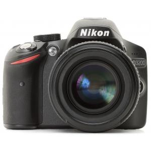 Зеркальный фотоаппарат Nikon D3200 + 18-55VR + 55-200VR Black