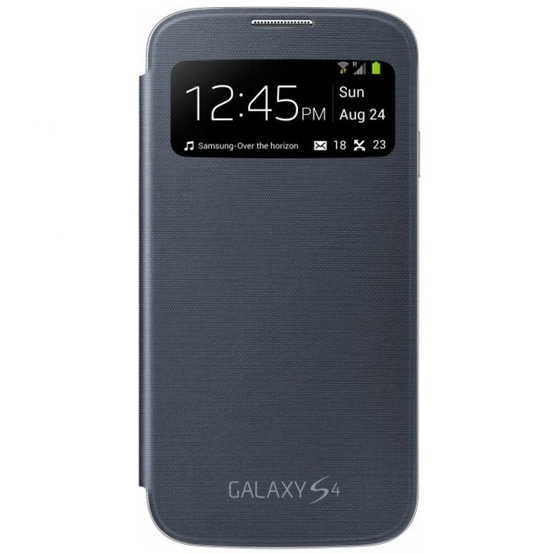 Чехол для мобильного телефона Samsung S-View Cover EF-CI950BBEGRU Для Samsung Galaxy S4 I9500 Black