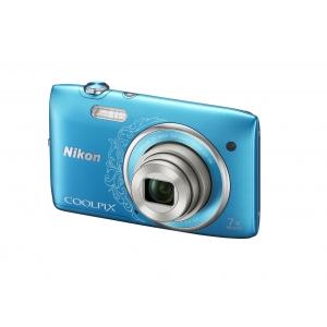 Цифровой фотоаппарат Nikon Coolpix S3500 Blue Lineart