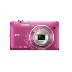 Цифровой фотоаппарат Nikon Coolpix S3500 Pink Lineart