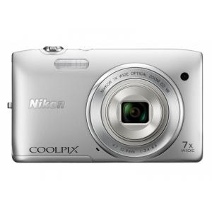 Цифровой фотоаппарат Nikon Coolpix S3500 Silver + SD card 4GB