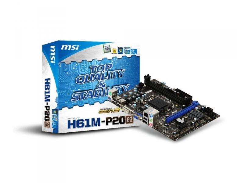 Материнская плата MSI H61M-S20