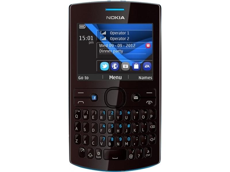 Мобильный телефон Nokia Asha 205 Cyan Dark Rose