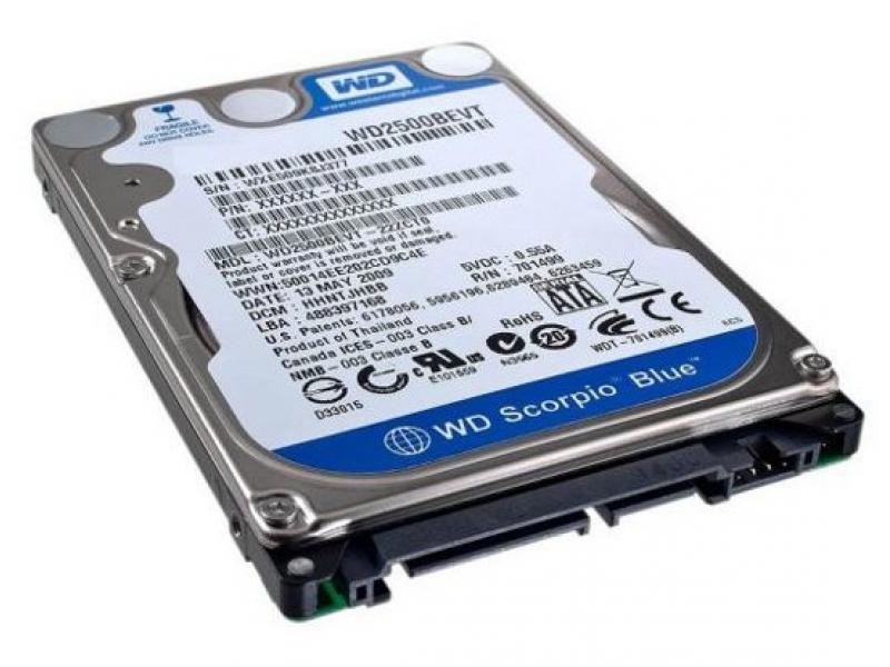 HDD диск Western Digital Scorpio Blue WD7500BPVT