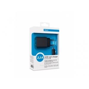 Зарядное устройство Deppa Ultra + дата-кабель microUSB black