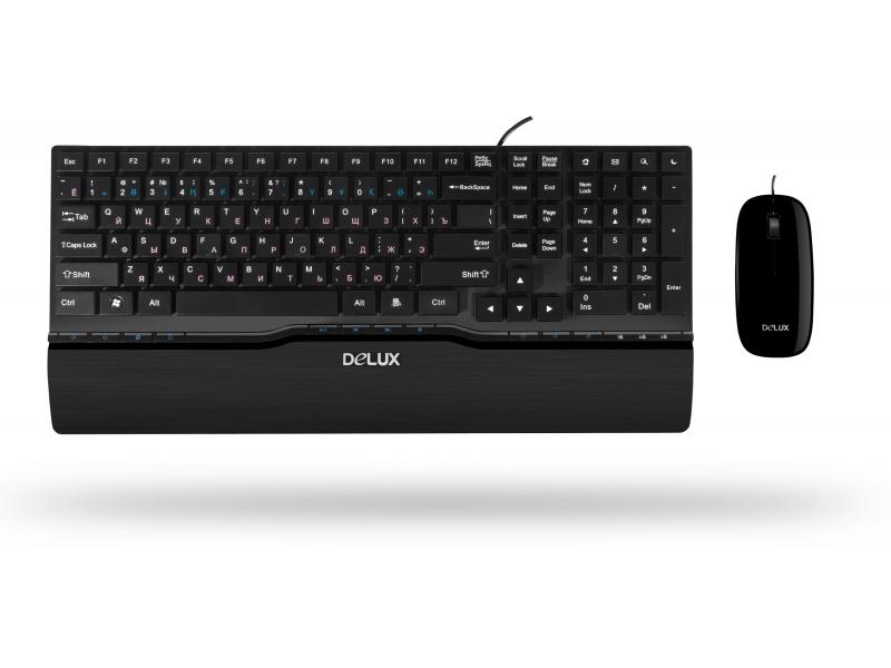 Клавиатура +Мышь Delux DLD-1811OUB Black