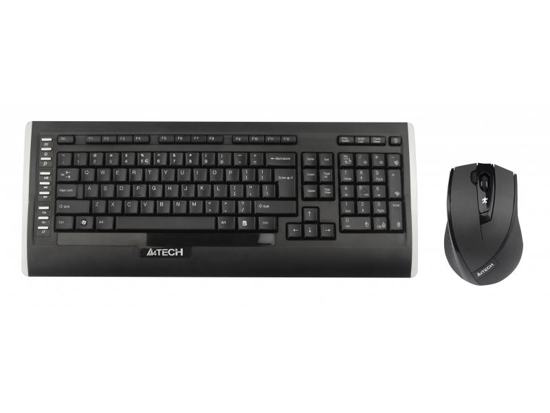 Клавиатура +Мышь A4Tech V-Track 9300F Black