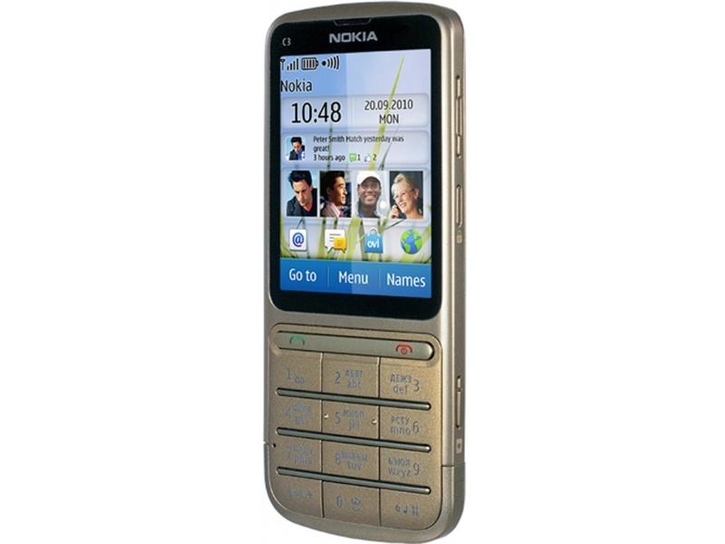 Мобильный телефон Nokia C3-01 RM-640  Khaki gold