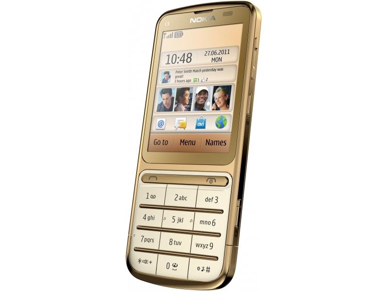 Мобильный телефон Nokia C3-01 gold