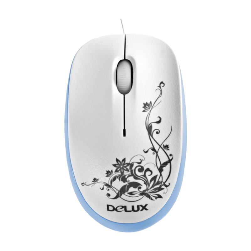 Мышь Delux DLM-100OUB White/Blue