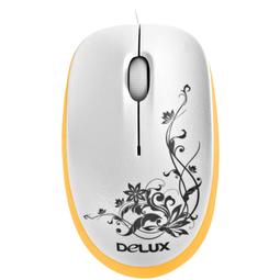 Мышь Delux DLM-100OUO White/Orange