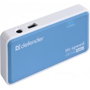 USB хаб Defender Quadro Power blue