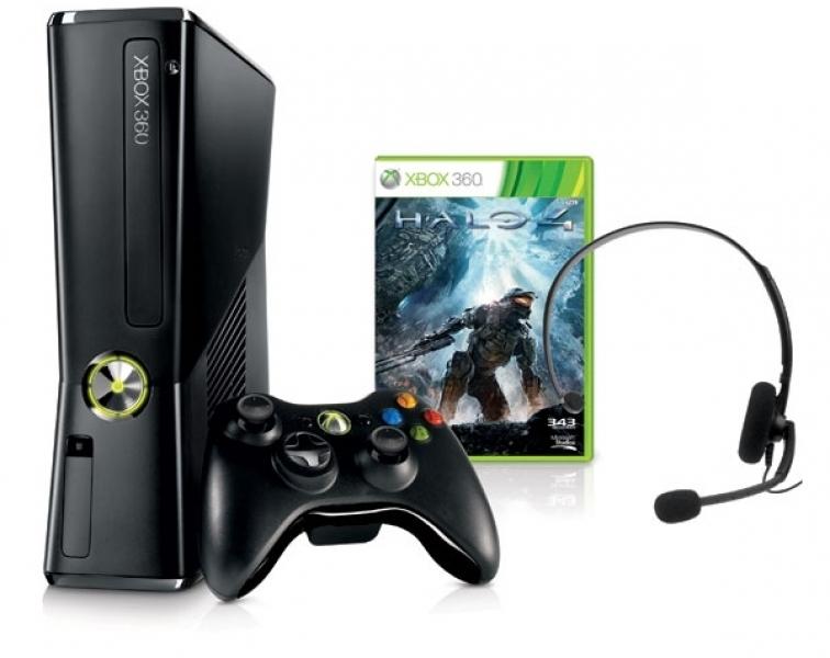 Игровая приставка Microsoft X-Box 360 Slimline + Halo 4 (R9G-00173)