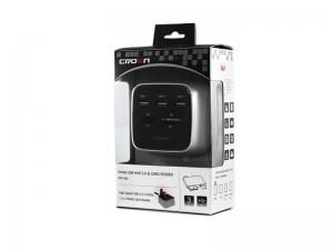 USB хаб Crown CMCU-660 Black/White