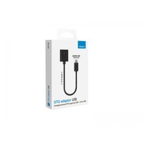 Кабель Deppa USB-microUSB OTG Black