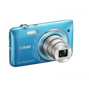 Цифровой фотоаппарат Nikon Coolpix S3500 Blue Lineart+Чехол