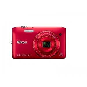Цифровой фотоаппарат Nikon Coolpix S3400 Red+4GB
