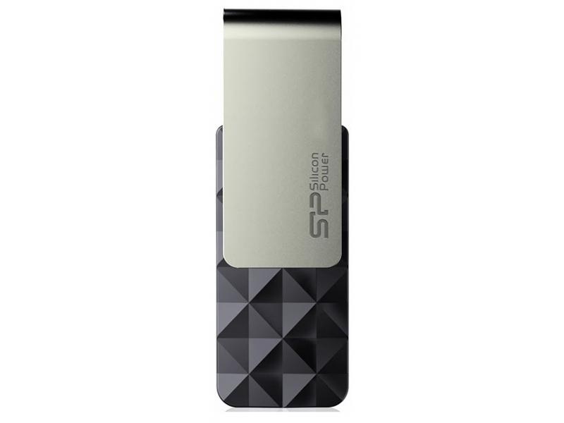 Флэшка Siliconpower Baze 30 (SP008GBUF3B30V1K) Black