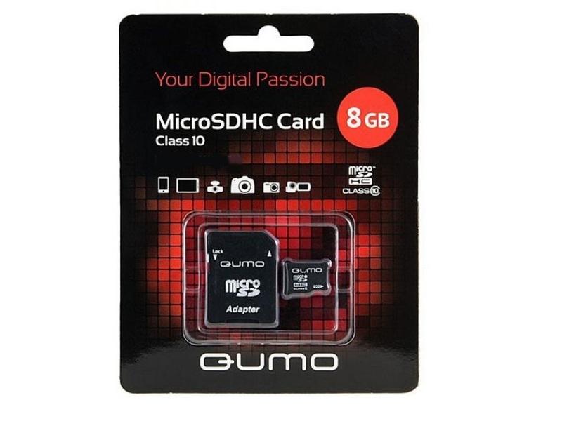 Карта памяти Qumo QM8GMICSDHC10