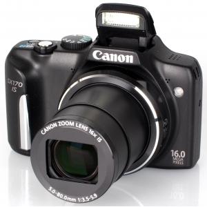 Цифровой фотоаппарат Canon PowerShot SX 170 IS Black