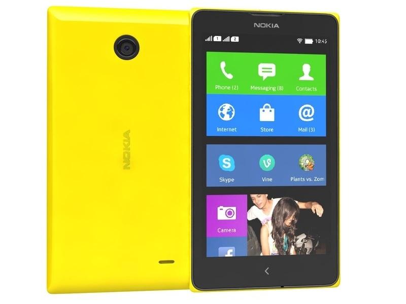 Смартфон Nokia X Yellow
