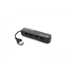 USB хаб Deluxe DUH4009B Black