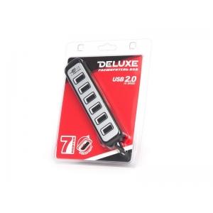 USB хаб Deluxe DUH7002BK Black