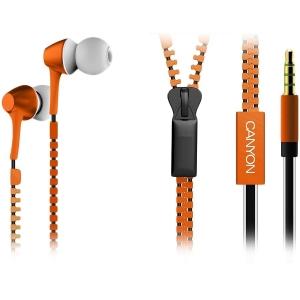 Наушники Canyon CNS-TEP1O Zipper Orange
