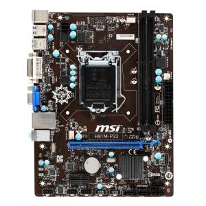 Материнская плата MSI H81 H81M-P33