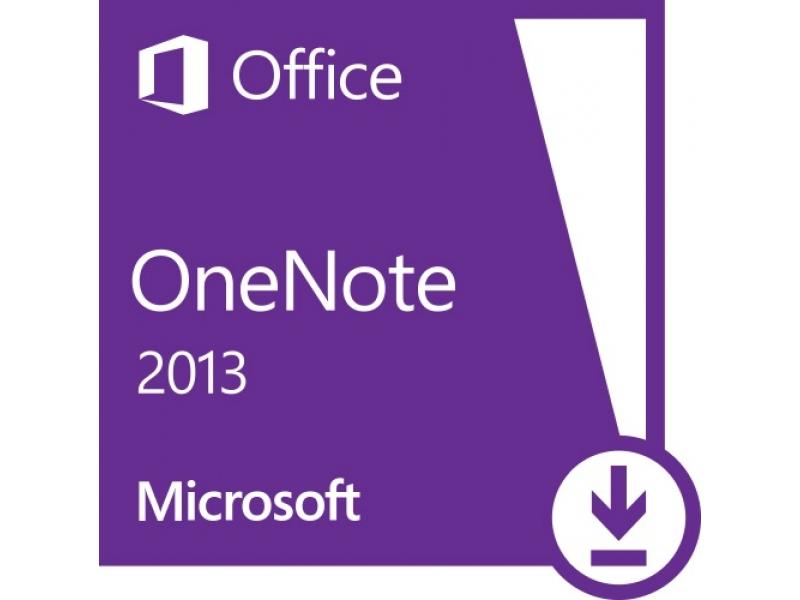 Microsoft Office Microsoft OneNote 2013 EM PKL Online DwnLd C2R NR (AAA-01479)