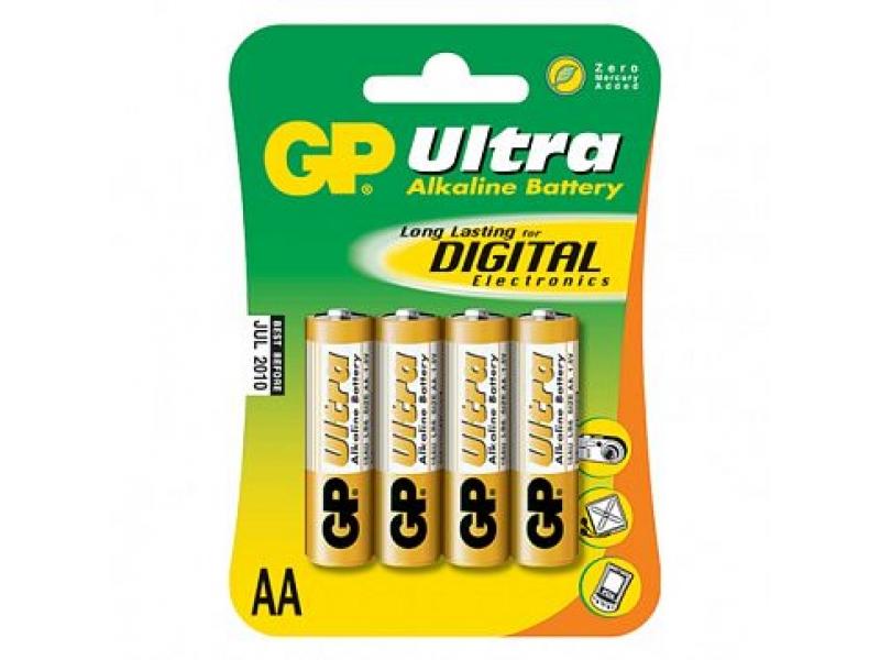 Элемент питания Gp Ultra Alkaline LR6/15AU-BC4