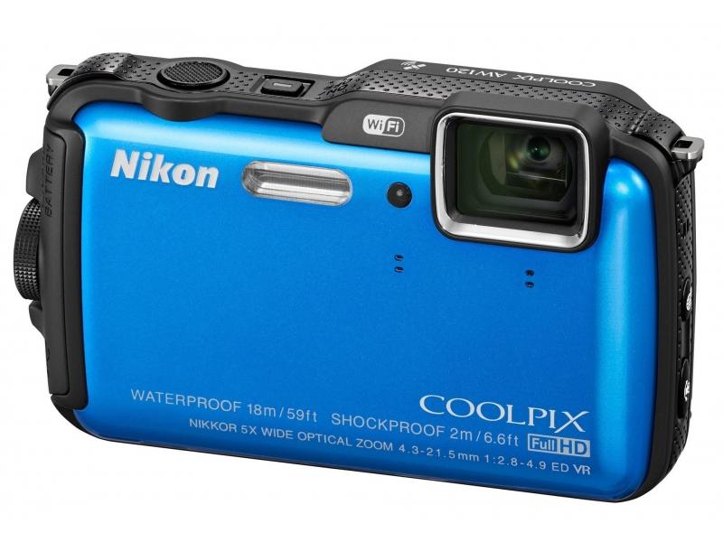 Цифровой фотоаппарат Nikon Coolpix AW120 Blue
