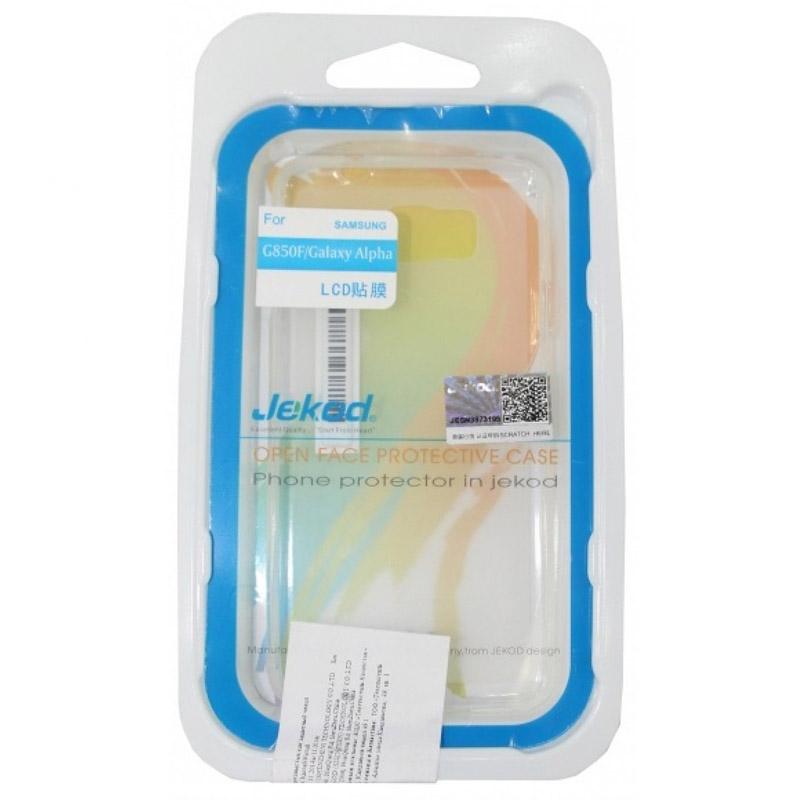 Чехол для мобильного телефона Jekod TPU Case Для Samsung Galaxy Alpha White