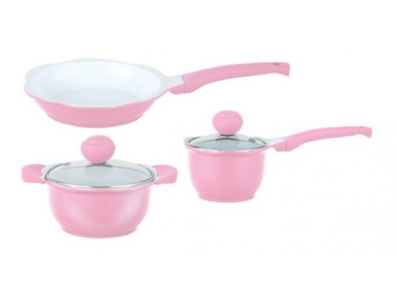 Набор посуды Frybest PRF003P Princess Pink