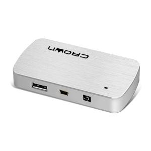 USB хаб Crown CMH-B23S Silver