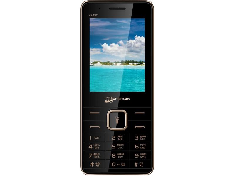 Мобильный телефон Micromax X2420 Black Champagne