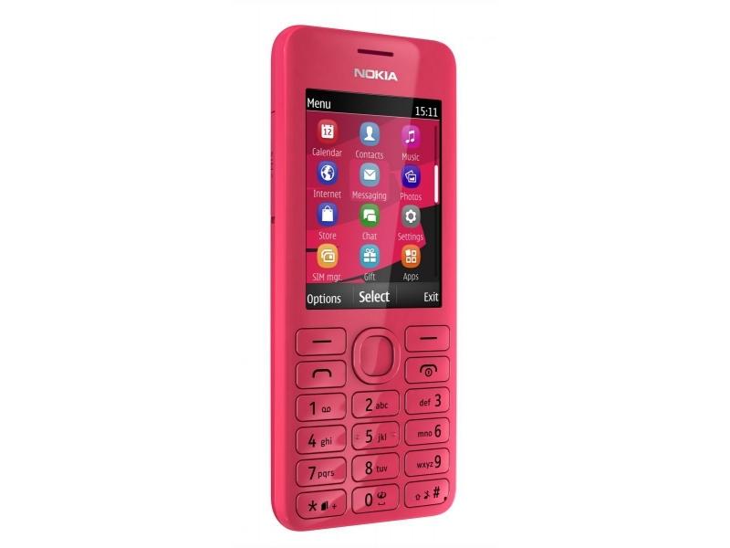 Мобильный телефон Nokia 206 magenta