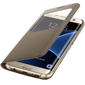 Чехол для мобильного телефона Samsung S View Cover EF-CG935PFEGRU (Galaxy S7 Edge) Gold