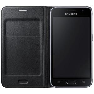 Чехол для мобильного телефона Samsung Flip Wallet EF-WJ120PBEGRU For Galaxy J1 2016 (J120) Black