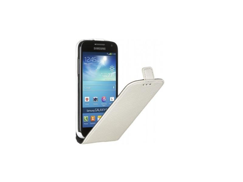Чехол для мобильного телефона Deppa Flip Cover Galaxy S4 mini + защитная Пленка White