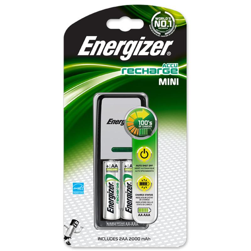 Зарядное устройство Energizer Mini Charger+2AA 2000mAh