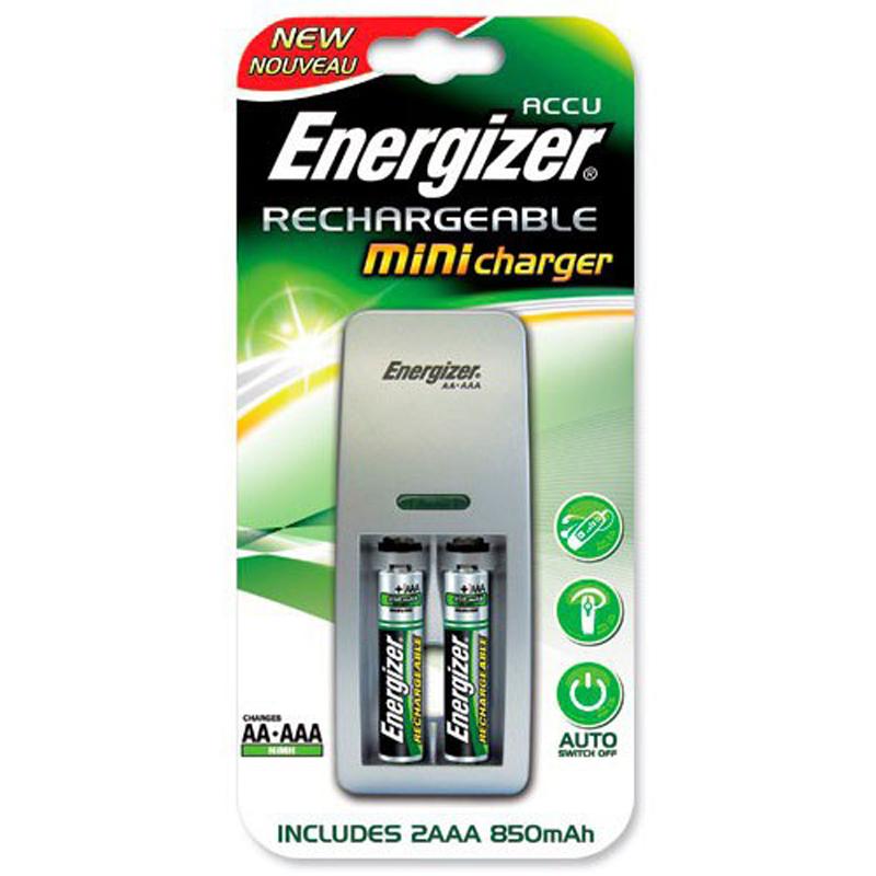 Зарядное устройство Energizer Mini Charger+2AAA 850mAh
