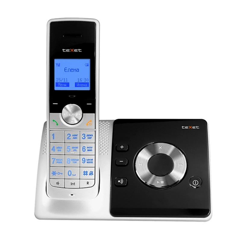 Радиотелефон Texet TX-D7455А Black-Silver