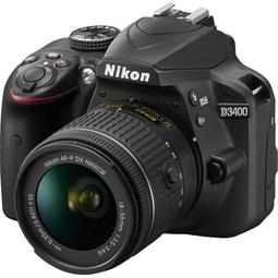 Зеркальный фотоаппарат Nikon D3400 + AF-P 18-55 II Black