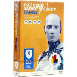 Антивирус Eset Nod32 Smart Security Family (Универсальная лицензия на 1 год на 5 устройств)