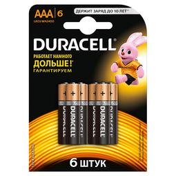 Элемент питания Duracell Basic AAAx6